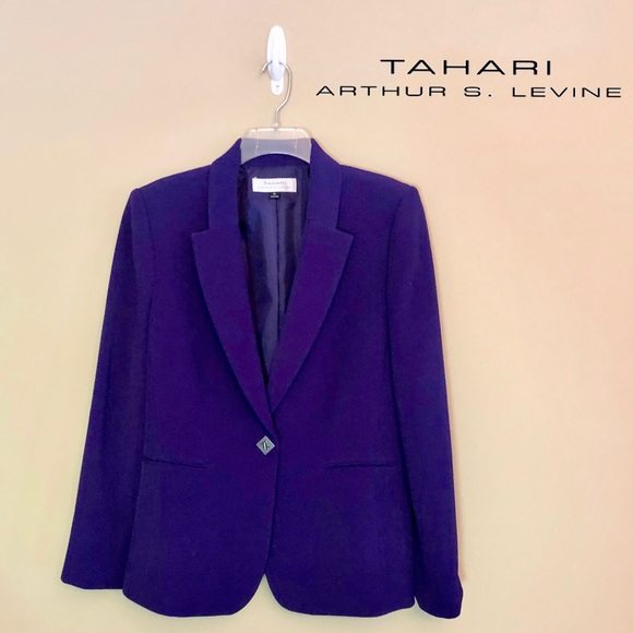 Tahari Jackets & Blazers - LIKE NEW - Tahari ASL - Purple Blazer - 10